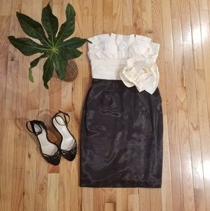 Max and Cleo Black and Cream Dress